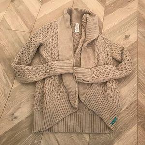 Ivivva 10 / 12 Sweater Jacket Grey Pullover